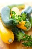 Gele en groene courgette stock foto