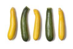 Gele en groene courgettes Royalty-vrije Stock Fotografie