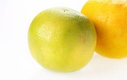 Gele en groene grapefruit Royalty-vrije Stock Fotografie