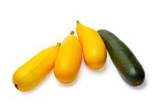 Gele en groene pompoenen op een witte backgroun Royalty-vrije Stock Afbeelding