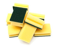 Gele en groene sponsen Royalty-vrije Stock Foto