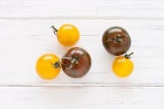 Gele en groene tomaten Royalty-vrije Stock Afbeelding