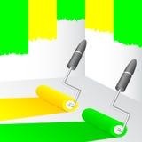 Gele en groene verf. Royalty-vrije Stock Foto