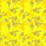 Gele en kaki UFOcamouflage Stock Foto
