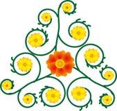 Gele en oranje bloemen Royalty-vrije Stock Afbeelding