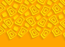 Gele en oranje geometrische document abstracte achtergrond Stock Fotografie