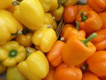 Gele en Oranje Groene paprika Royalty-vrije Stock Foto