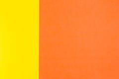 Gele en oranje kleurendocument achtergrond Stock Foto