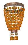 Gele en Oranje Kroonluchter Stock Foto's
