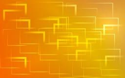 Gele en rode abstracte achtergrond Stock Foto