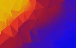 Gele en rode blauwe achtergrond Royalty-vrije Stock Afbeeldingen