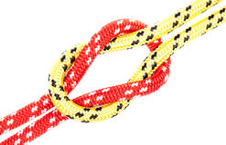 gele en rode kabelknoop Royalty-vrije Stock Foto