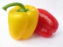 Gele en Spaanse pepers Royalty-vrije Stock Afbeelding