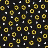 Gele en witte cirkels Stock Foto