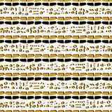 Gele en Witte Samenvatting Getrokken Cryptische Symbolen royalty-vrije illustratie