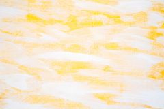 gele en witte verfachtergrond stock foto's