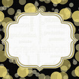 Gele en Zwarte Graduatiepolka Dot Frame Background Royalty-vrije Stock Foto