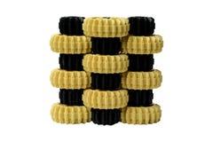 Gele en zwarte plastic toestellen Stock Afbeeldingen