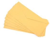Gele enveloppen Royalty-vrije Stock Fotografie