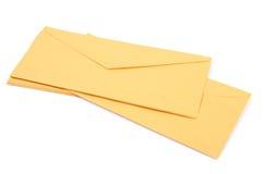 Gele enveloppen Stock Afbeelding