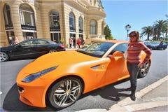 Gele Ferrari Stock Afbeelding