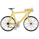 Gele fiets vector illustratie