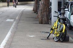 Gele fiets Royalty-vrije Stock Afbeelding