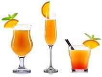 Gele geïsoleerde cocktail Stock Afbeelding
