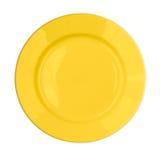 Gele geïsoleerdee plaat Royalty-vrije Stock Foto's