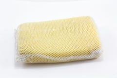 Gele geïsoleerdee spons Royalty-vrije Stock Afbeeldingen