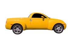 Gele Geïsoleerdew Vrachtwagen Stock Afbeelding
