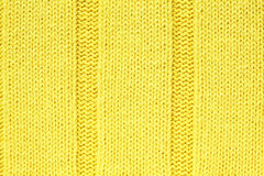Gele gebreide stoffen geweven achtergrond Royalty-vrije Stock Fotografie
