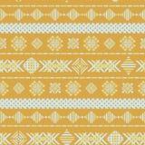 Gele geometrische borduurwerk naadloze vectortextuur als achtergrond vector illustratie