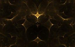 Gele geometrische vormen Stock Foto's