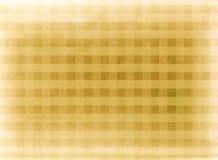 Gele geruite stoffenachtergrond Royalty-vrije Stock Afbeeldingen