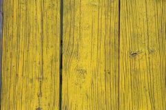 Gele geschilderde houten planken Stock Fotografie