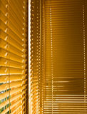 Gele gesloten blinden stock afbeeldingen