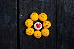 Gele glimlach zoals een zon Stock Fotografie