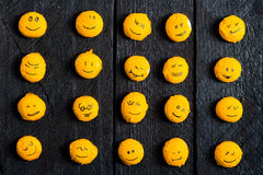 Gele glimlachboom Royalty-vrije Stock Foto