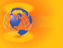 Gele Globale Achtergrond Stock Foto's