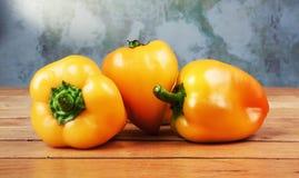 Gele groene paprika's Stock Afbeelding