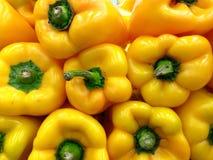 Gele groene paprika's Royalty-vrije Stock Foto's