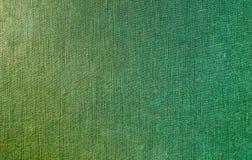 Gele/groene stoffentextuur Stock Afbeelding