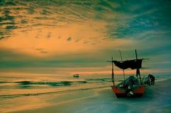 Gele grote zonsondergang Stock Foto
