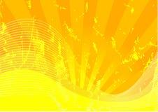 Gele grunge Stock Afbeeldingen