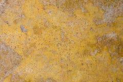 Gele grunge concrete achtergrond Royalty-vrije Stock Foto