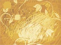 Gele grungy naadloze achtergrond in vector Stock Afbeelding