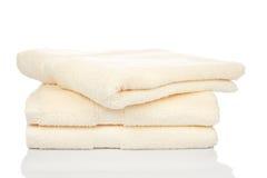 Gele handdoeken Stock Afbeeldingen