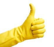 Gele handschoen royalty-vrije stock afbeeldingen