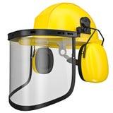 Gele helm Stock Foto's